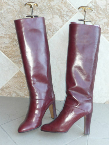 "Boots Vintage 1982 ""Bordeaux Red"" GUIDO PASQUALI T. 39"