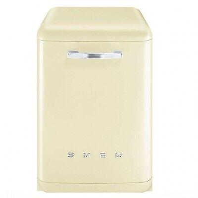 Smeg DF6FABP2 Retro 50's Style Cream Freestanding Dishwasher DF6FAB