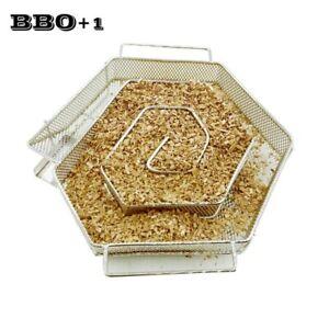 Hexagon-Cold-Smoke-Generator-Steel-BBQ-Smoker-Box-Grill-Cook-Tool-for-Bacon-Fish