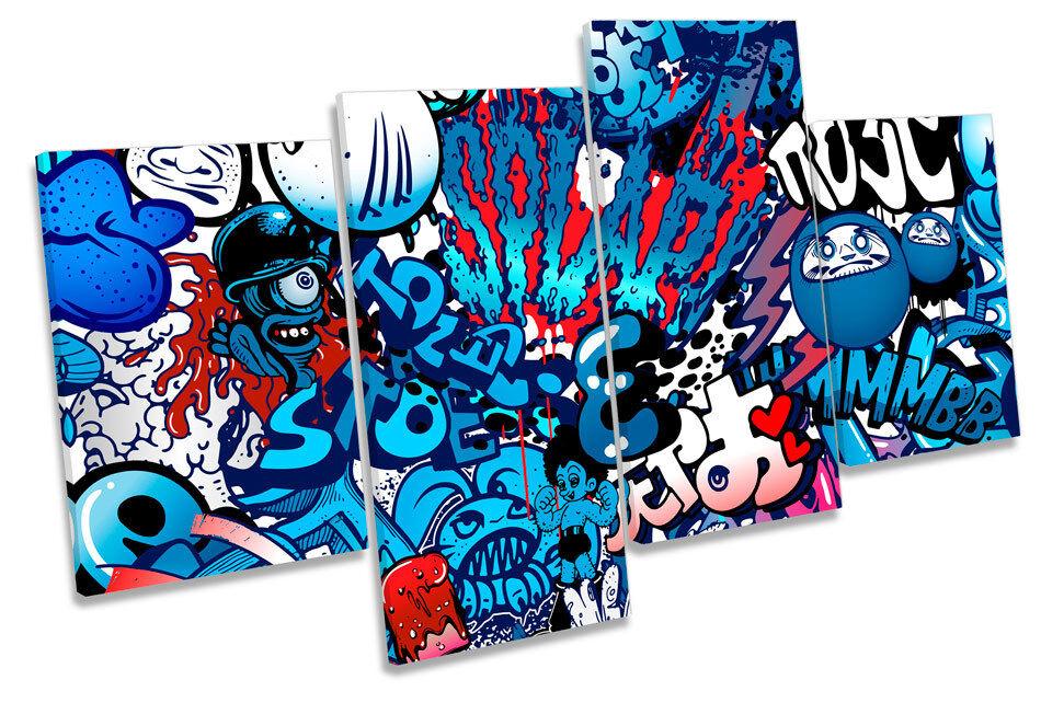 Urban multi Graffiti caracteres multi Urban tela pared arte enmarcado Panel a7c29d