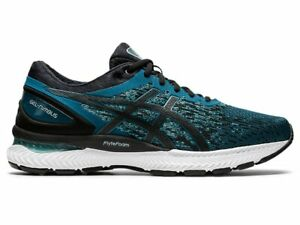 NEW-Asics-GEL-NIMBUS-22-KNIT-Mens-Magnetic-Blue-BLACK-Running-Shoes-1011A794-400