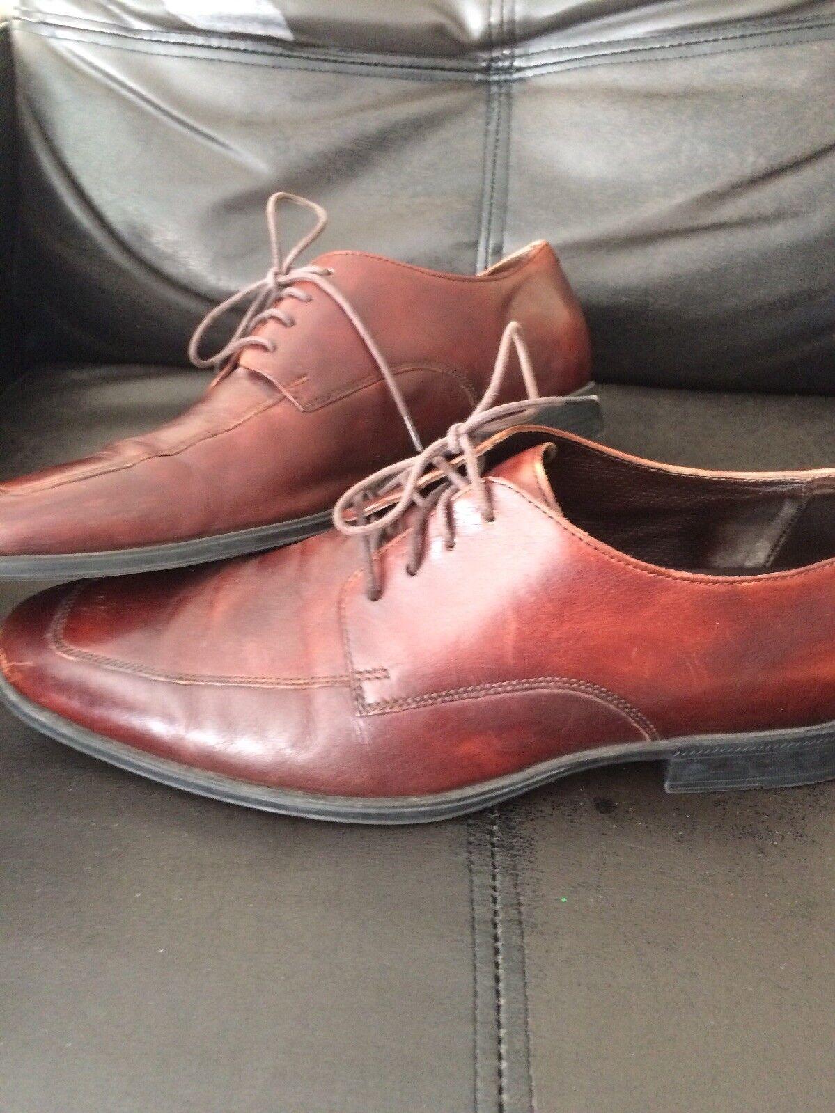 Cole Haan US Burgundy Leather Oxford Men's US Haan 11 d311b7