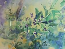 FINE ART SALE - Zao Wou Ki (in the manner of) Watercolor on Arches paper - LARGE