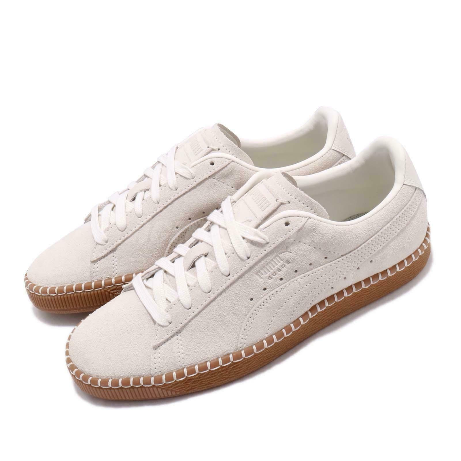 Puma Suede Classic Blanket Stitch Whisper blanco Gum Men mujer zapatos 368903-03