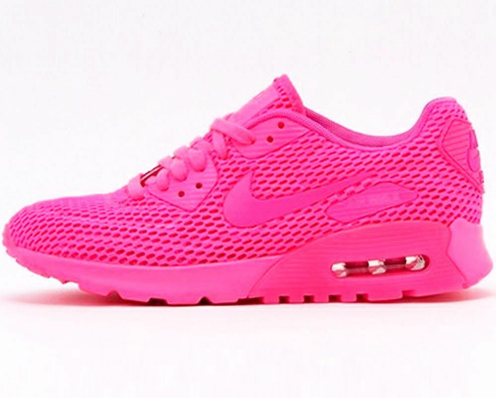 NIKE WOMENS AIR MAX 90 ULTRA BR Pink breathe running training sneakers new