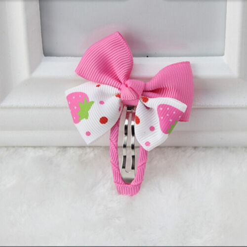 2XCute Hair Clips Strawberry Satins Bowknot Hairpin For Kids Baby Toddlers Girl