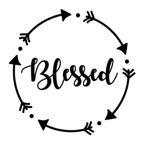 Blessed Arrow Circle Vinyl Decal Sticker For Home Cup Mug Glass Wall Decor