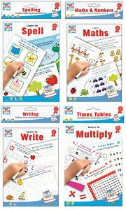 Wischer-Sauber-Lernen-Lernen-Books-mit-Stift-Mathe-Schreiben-Bildungs-Worksheets