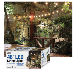 Feit 48ft 24 Led Rgb Outdoor Weatherproof Color Changing String
