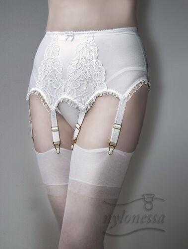 Nylonessa Eleni Burlesque Strapsgürtel Luxus Lace 6mY7gIvfby