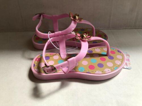 Pink Sandals Flip Flops w// Polk A Dots Toddler Girls NEW Choose size 5 6 7 8 9