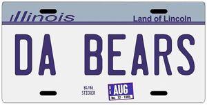 Chicago Bears Football 1985 Super Bowl XX Champs Souvenir License plate