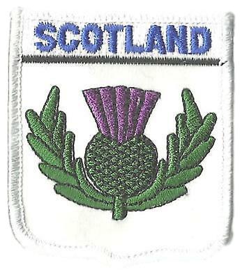 SCOTLAND CELTIC CROSS FLAG CREST WORLD EMBROIDERED PATCH BADGE
