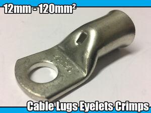 1.5mm² x 4mm Copper Tube Terminals Crimp//Solder Cable//Battery//Eyelets Lug Ends