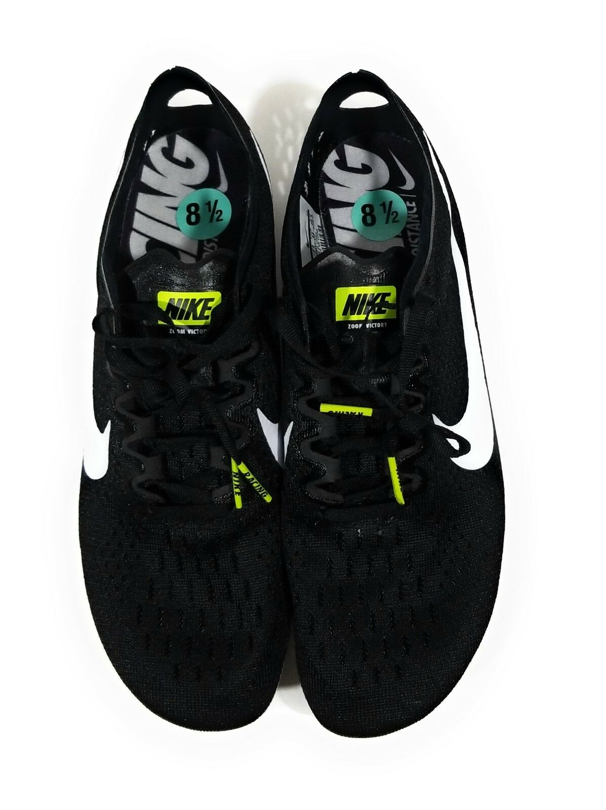 best website 29519 bf811 ... Nike Zoom Victory 3 Mens Track Spikes Black White White White Size 12  de6ee6 ...