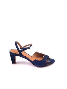 Camoscio Stampata In Chie Miihara Bimateriale Pelle E Sandalo Blu wCgqIx8CA