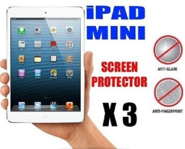 """3 X Apple Ipad Mini / 2 3 7.9 """" Anti-reflet (mat ) Écran Protecteur Housse &"""