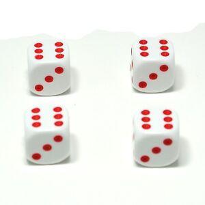 Set-of-Four-White-Red-spots-Dice-Dust-Caps-X4-80s-Retro-Valve-Caps-BMX-VW
