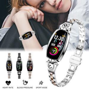 Moda-Mujer-Reloj-inteligente-seguimiento-para-ejercicio-Ritmo-Cardiaco-Pulsera-para-IOS-Android