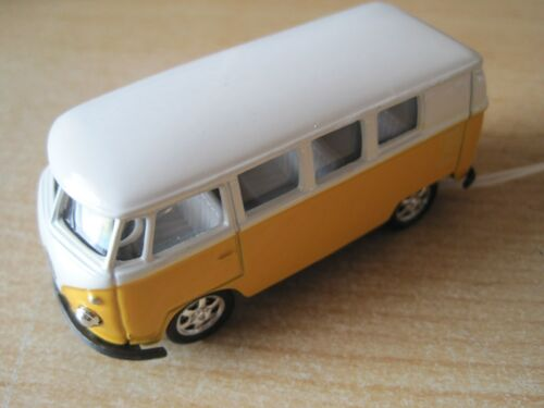 VW Bus T1 gelb ca.7,3cm 1:60  *NEU* orig.verp Spielzeugautos Metall mit Rückzugmotor