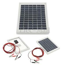 Elfeland 12V 5W Solar Panel & 4m Cable Module Battery Clips For Charger RV Boat