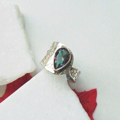 Mystic Topas lila grün Regenbogen Design Ring Ø 18,25 mm 925 Sterling Silber neu