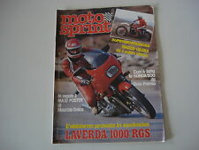 MOTOSPRINT 5/1982 LAVERDA 1000 RGS/HONDA NS 500/YAMAHA TZ 250