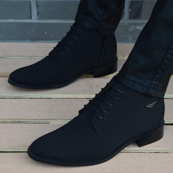 Fashion Mens Casual high top pointy toe chukka dress shoes ankle boots oxford