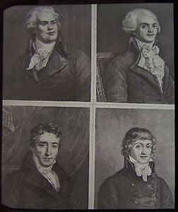 Glass Magic Lantern Slide FRENCH REVOLUTION LEADERS C1890 DRAWING FRANCE FRENCH - Cornwall, United Kingdom - Glass Magic Lantern Slide FRENCH REVOLUTION LEADERS C1890 DRAWING FRANCE FRENCH - Cornwall, United Kingdom
