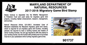 2017-Maryland-Duck-Stamp-MD-44-Self-Adhesive-VF-XF-ESP-STOCK