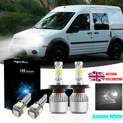 Ford Transit MK6 100w Super White Xenon High//Low//LED Side Light Headlight Bulbs