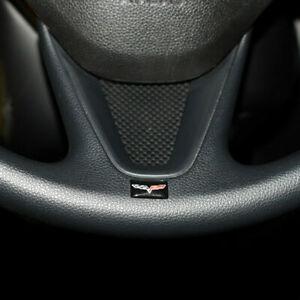 4pcs-Auto-Lenkrad-Aufkleber-Emblem-Abzeichen-fuer-Corvette-Chevrolet