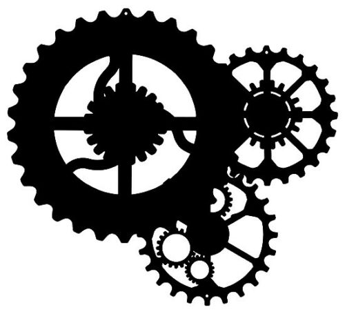 Automobile Gears Laser Cut Out Silhouette Wall Decor Metal Sign 16x18 RVG341B