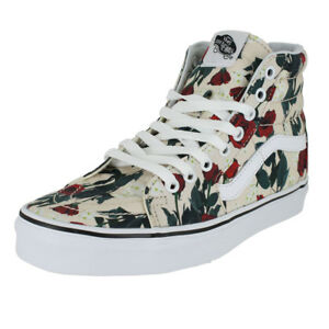 VANS U SK8 HI ROSES SAND DOLLAR TRUE WHITE MENS US SIZES  091168580456