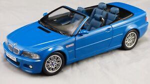 Kyosho-1-18-2000-BMW-M3-E46-Cabrio-Convertible-Laguna-Seca-Matt-Azul-Coche-de-juguete