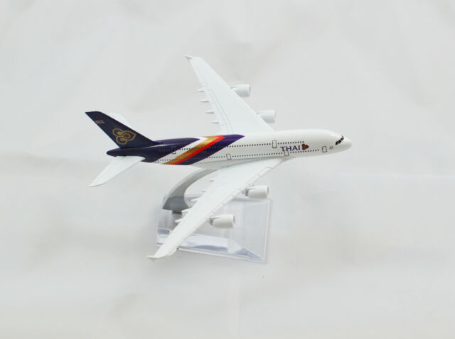 16cm Airbus A380 Thai Thailand Airways Airlines Aeroplane Metal Model Jumbo Jet