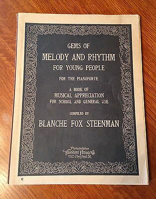 """Vintage Teachers Music Pamphlet """"Gems of Melody and Rhythm"""" for children-1924"""