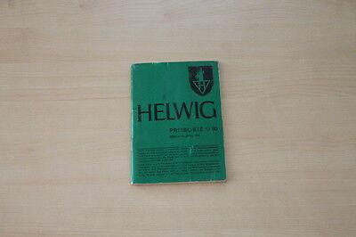 163203) Helwig - Preise & Extras - Prospekt 01/1980