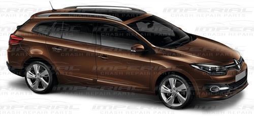 2013-2016 Renault Megane III Headlamp Moulding Finisher Trim Set eye brow