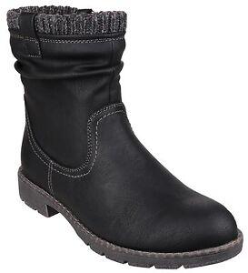 8 Uk3 Mid Décontractée Divaz Up Bottes Bottes Zip Lucca Chaussures Mode Femmes Calf 8F8T7nxP
