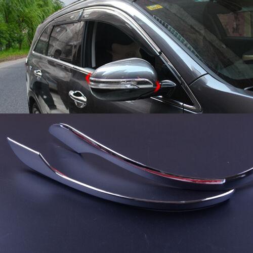 Rear View Molding Mirror 2pcs Cover Trim for Kia Sorento UM 16-19 Side Plastic