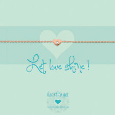 "NEUHEIT heart to get - Armband ""Let Love shine!"" - Silber ROTGOLD / Zirkonia"