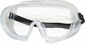 Splashproof Full Seal Safety Goggles with Adjustable Strap, Clear Lens
