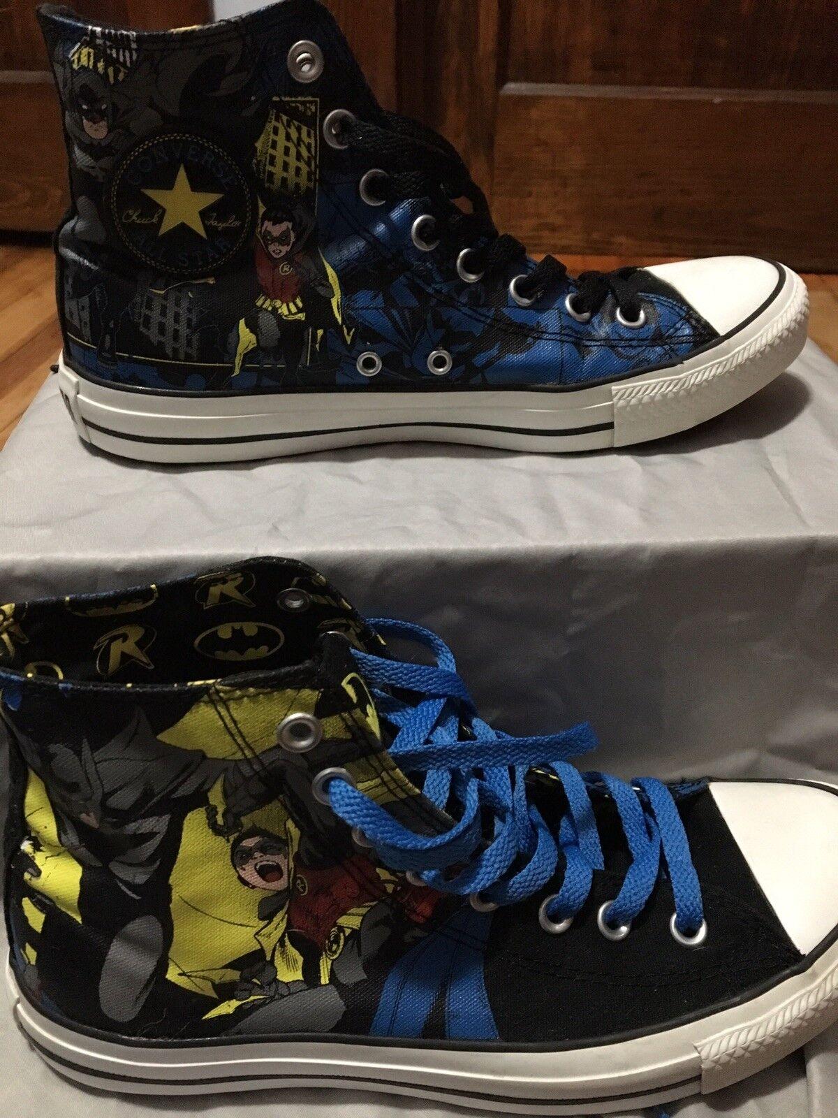 MENS SIZE 8   Converse All star Chuck Taylor high top shoe Batman Robin