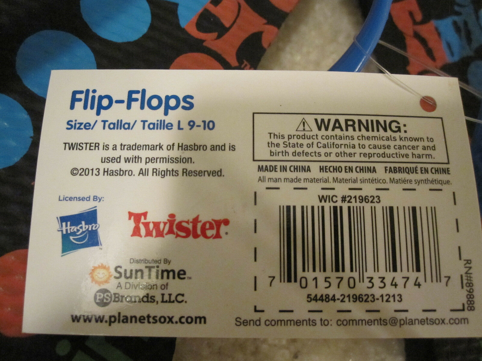Twister Flip Flops Womens Ladies Size Large 9/10 With Tags