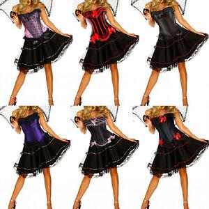 Burlesque-Costume-Corset-Dress-amp-Skirt-Moulin-Rouge-Fancy-Dress-Costume-Outfit