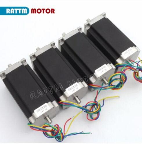 DE丨4 Axis USB CNC Controller Kit NEMA23 Dual shaft Stepper Motor 425oz 4A Driver
