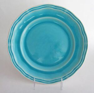 Image is loading ARTISTIC-ACCENTS-Crackled-Glass-Turquoise-Aqua-Stoneware- DINNER- & ARTISTIC ACCENTS Crackled Glass Turquoise Aqua Stoneware DINNER ...