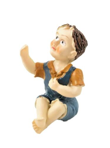 Dolls House seduta bambino tan Top in miniatura Persone Figura Resina Moderno