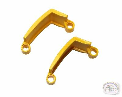 ,4 parts 24116 panel curved 3x6x3 Lego yellow technic